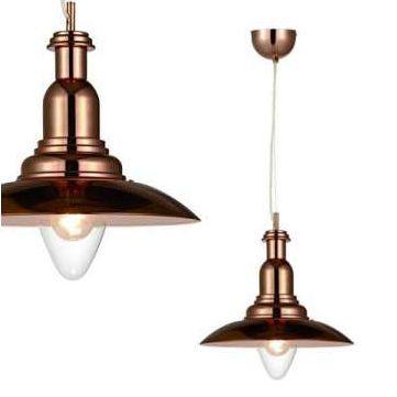 Miedziana lampa wisząca będzie świetnym uzupełnieniem jadalni urządzonej w stylu rustykalnym. #mlamp #oświetlenie #stylrustykalny #jadalnia #kuchnia #miedź #lampa #wisząca