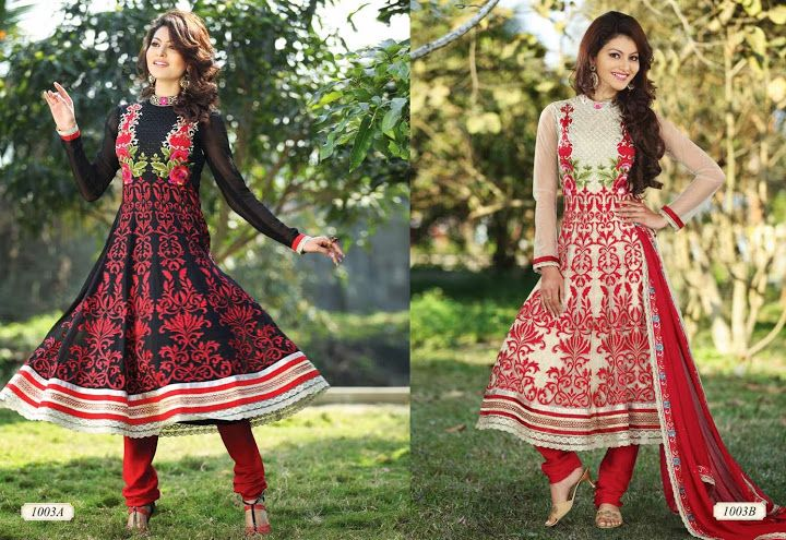 LONG ANARKALI SUITS  D.No. 1005  @4,475/-only  ORDER:PLEASE SEND US EMAIL