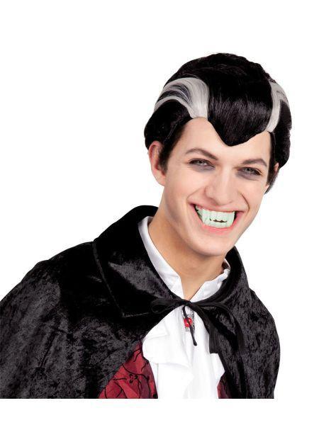 "https://11ter11ter.de/40345027.html Kurzhaar Halloween Perücke ""Vampir"" für Erwachsene #11ter11ter #haare #perücke #mann #vampir #halloween #blackandwhite #dracula #fasching #karneval"