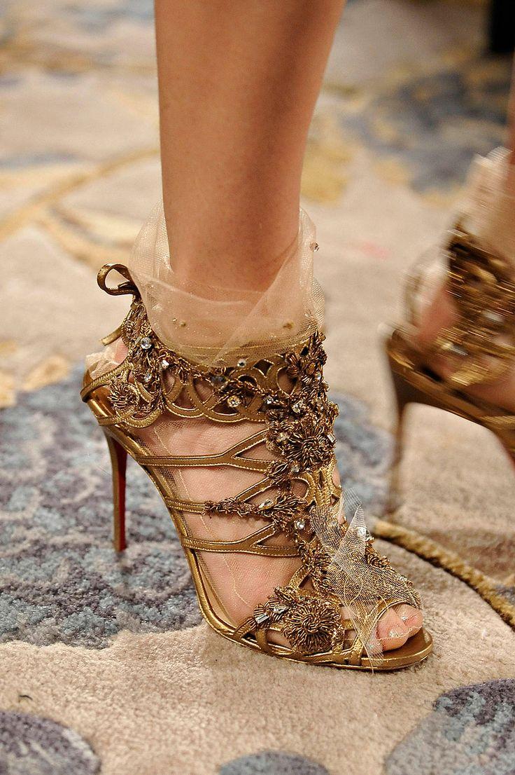 Christian Louboutin- WOOOOOOW: Fashion Shoes, Fairies, Wedding Shoes, Christian Louboutin Shoes, Woman Shoes, Weddingshoes, High Heels, Gold Shoes, Christianlouboutin