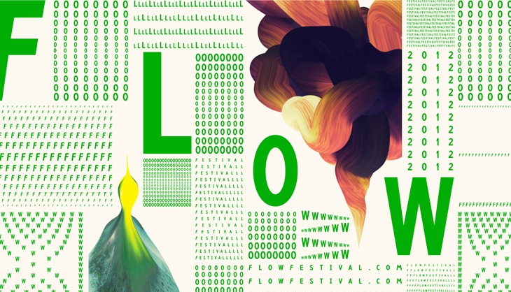 The look for this years Flow Festival is designed by TSTO, illustrations by Santtu Mustonen. http://tsto.org/