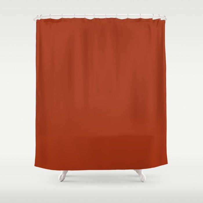Colors Of Autumn Burnt Orange Solid Color Shower Curtain Solid Color Shower Curtain Fabric Shower Curtains Orange Shower Curtain