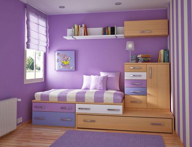 Διακόσμηση χώρου σε μωβ αποχρώσεις. Διακόσμηση σαλονιού, κρεββατοκάμαρας, κουζίνας. Διακόσμηση παιδικού δωματίου σε μωβ χρώμα, λιλά, μελιτζανί. Βάλτε μωβ κουρτίνες, ριχτάρια, υφάσματα. Τοίχοι και ταπετσαρίες μωβ.