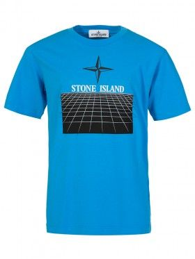 Stone Island Junior Blue Graphic T-Shirt