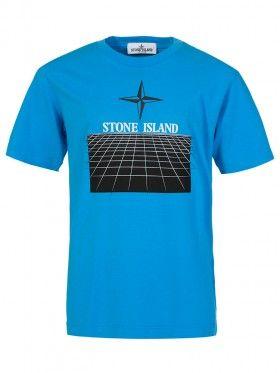 Stone Island Junior Blue Graphic T-Shirt