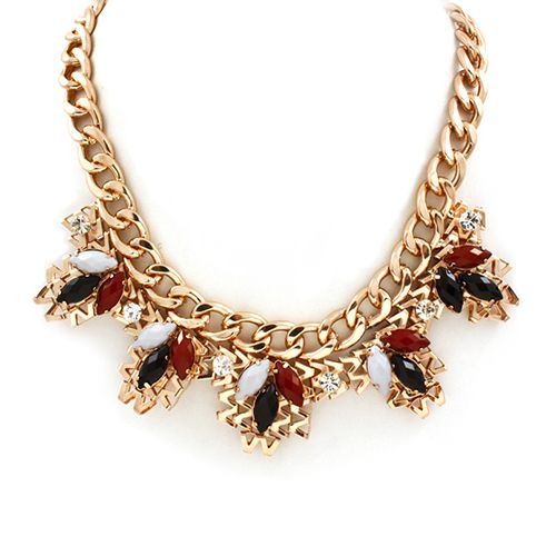 Curb Chain Statement Necklace