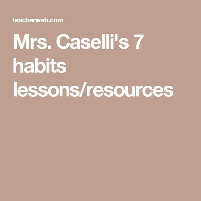 48 best esls images on pinterest student centered resources mrs casellis 7 habits lessonsresources middle school fandeluxe Images