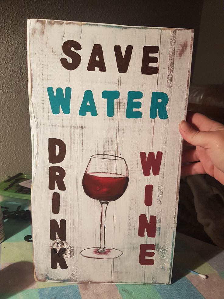 Quote Boards - Save Water, Drink Wine