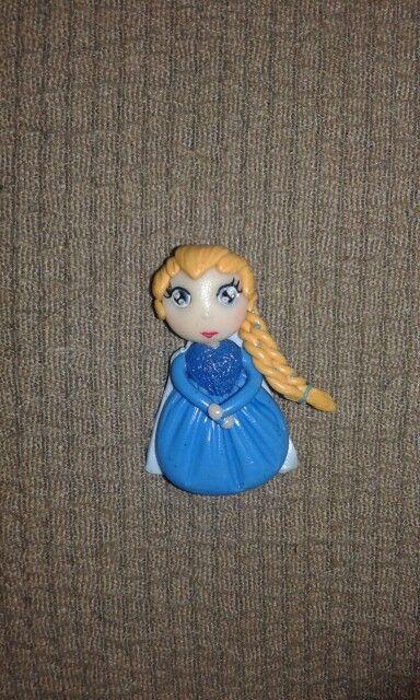 Ciondolo Elsa frozen fimo