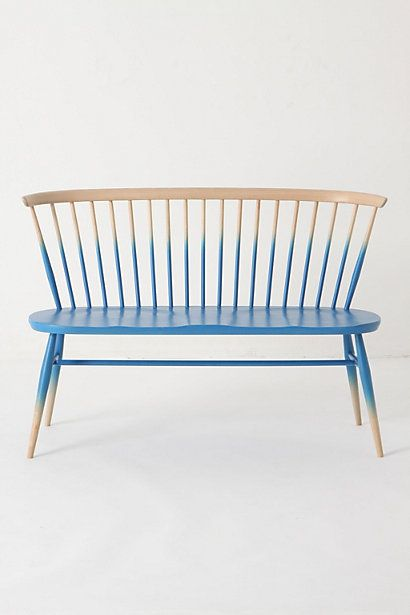 ...another wishful thinking piece for the cottageIdeas, Windsor, Anthropology, Painting Furniture, Chairs, Ombre Benches, Seats, Diy, Design