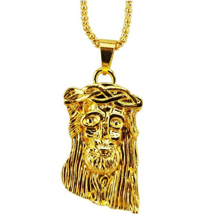 18k Yellow Gold Jesus Piece (With Chain)