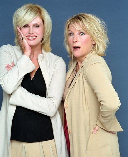 "Joanna Lumley aka 'Patsy Stone' and Jennifer Saunders aka 'Eddy Monsoon' from ""AbFab"""