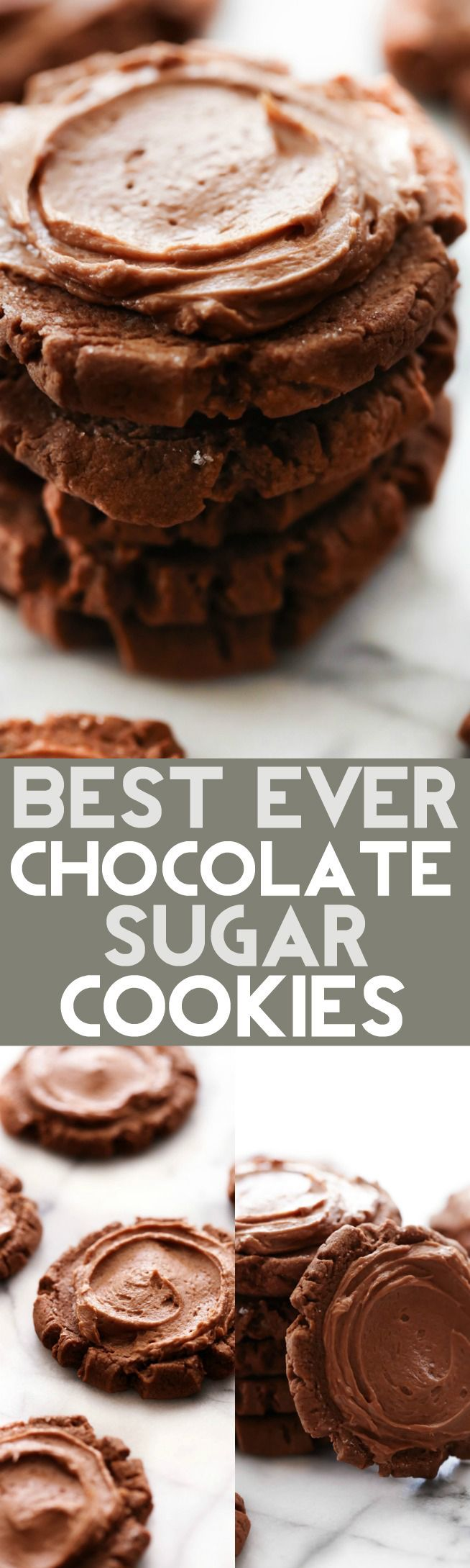 """These Chocolate Sugar Cookies are truly THE BEST EVER! They are inspired by my favorite """"Dirtball Cookie"""" at a drink stop called Swig. They…"""