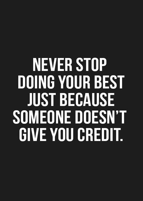 ....really hard, but I'm trying.  Even when someone else tries to take my credit!