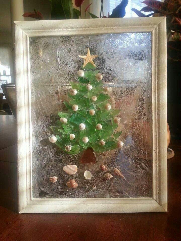 beach glass christmas tree ornaments
