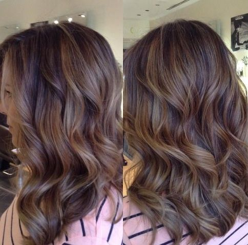 13 best highlighted hair images on pinterest makeup beauty tips full head balayage dark brown hairblonde pmusecretfo Image collections