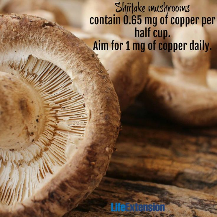 Benefits of copper: bone strength, blood cell maturation, iron transport, glucose metabolism, heart muscle contraction, and more. #copper #mushrooms #nutrition #eatclean #health #lifeextension