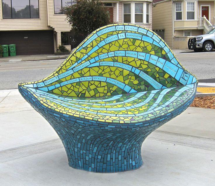 Mosaic sculpture at Balboa Park in SF by Rachel Rodi