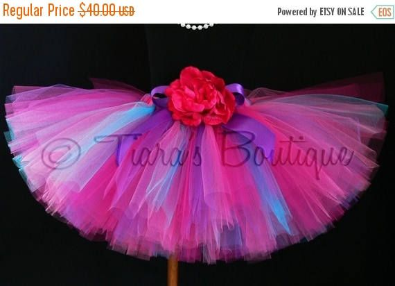 SUMMER SALE 20% OFF Girls Tutu - Hot Pink Purple Blue Tutu - Boysenberry Tutu - Custom Sewn Tutu - length up to 12'' - sizes Newborn to 5T