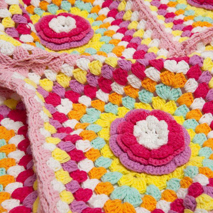 Çok renkli kroşe pamuklu battaniye - Battaniyeler - Yatak Odası | Zara Home Turquia