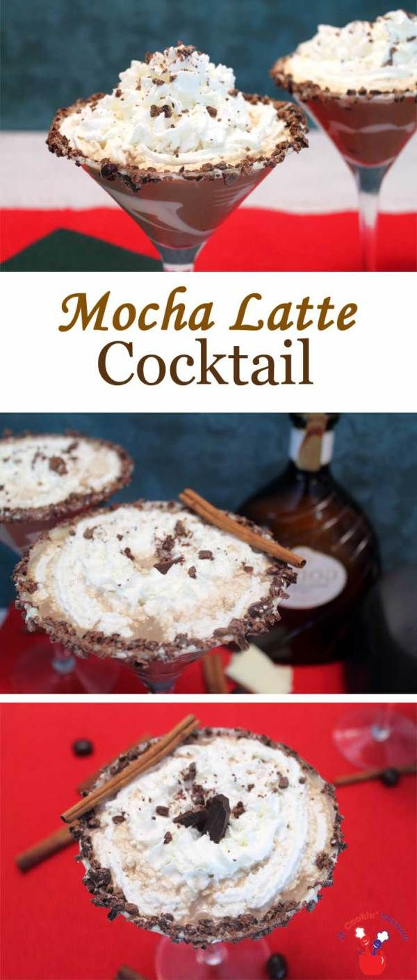 Mocha Latte Cocktail   2 Cookin Mamas This decadent Mocha Latte Cocktail, with coffee, tequila, white chocolate liqueur & cream creates the perfect cocktail for cold weather. #recipe