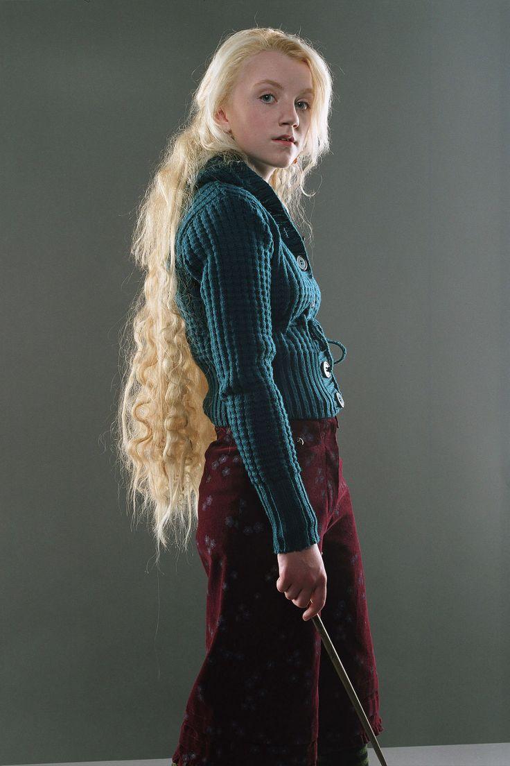 Evanna Lynchs ( Luna Lovegood in the Harry Potter film series)