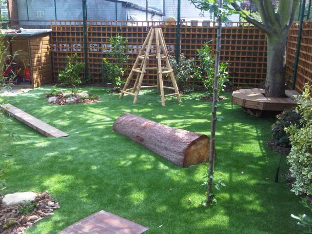 toddler playground- maybe I should lay down the redwood log somewhere in the yard