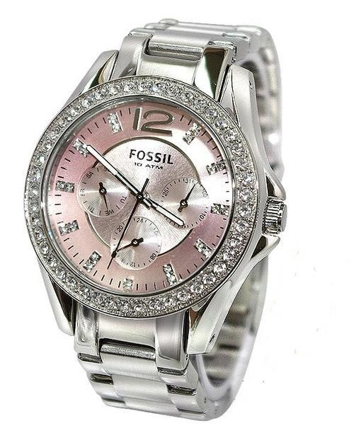 Women's Watches - *** FOSSIL GLITZ PINK BOYFRIEND WOMEN'S WATCH - ES2251