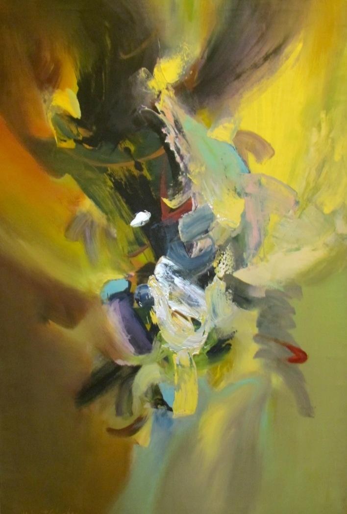 """3rd Sky,"" Acrylic on Canvas, 60 x 40 in."
