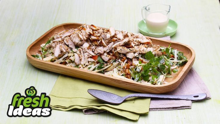 BBQ Grilled Chicken Recipe with Waldorf Coleslaw. #Woolworths #Recipe #WhatsForDinner #BBQ #Chicken #Coleslaw