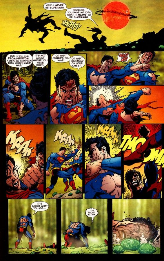 Superman vs Superboy Prime (Original Earth 2 Superman dies!)