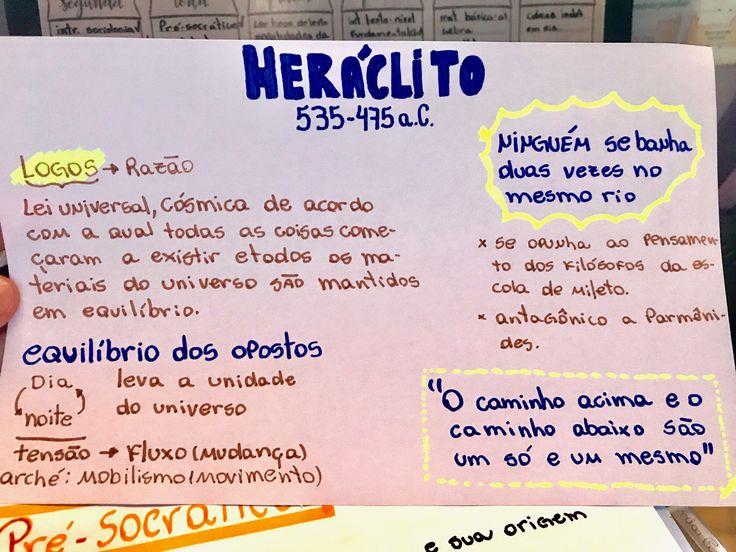 Pré-Socráticos resumo Heráclito