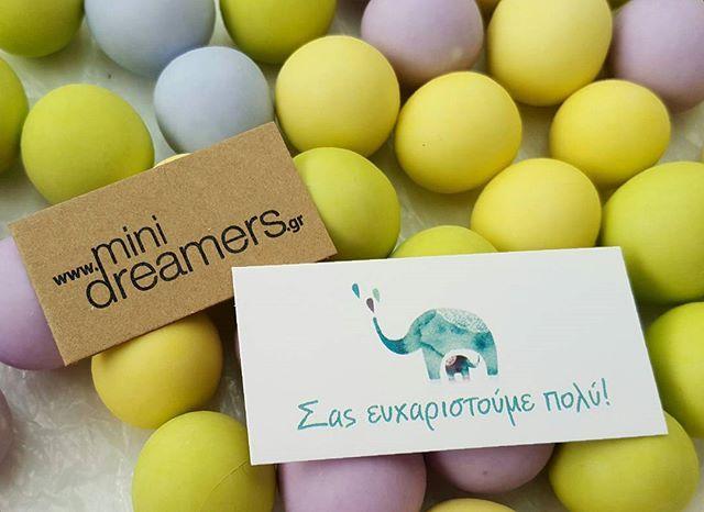 #minidreamers #dragees #choco_crispy #hatzigiannakis #baptism_favors #MiniDreamers #elephant_theme #love_elephants
