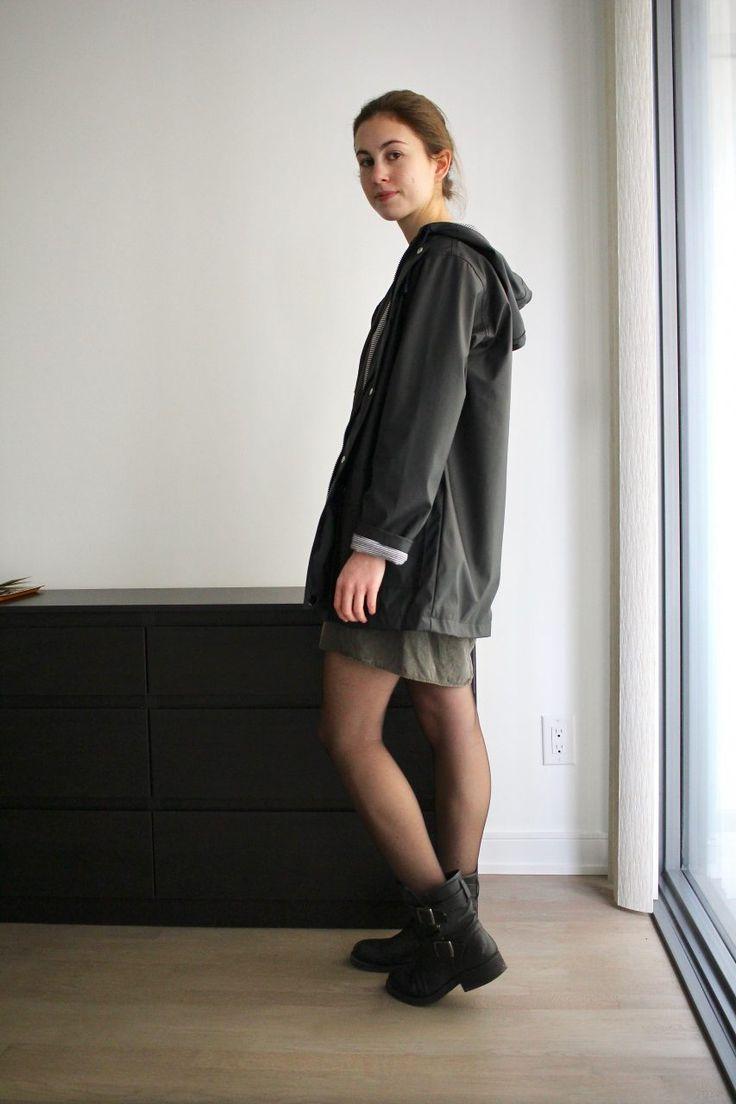 Robe Comptoir des Cotonniers @misscomptoir - Bottes KOAH Percy - Ciré Petit Bateau @petitbateau