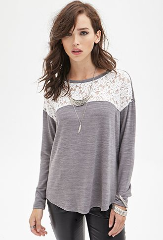 Rose Patterned Lace Sweater | FOREVER21 - 2000084993 fall sweater 2014