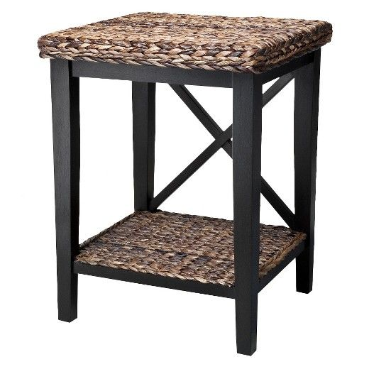 """The Andres woven night stand will be a versatile addition to your bedroom for keeping decorative items, alarm clock, night lamp or flower vases. Its woven top and X-frame with open shelf offers a blend of classic and contemporary touch to your bedroom. This nightstand with shelf is made of hardwood with a 4-point base for stability. It's 25"""" high and 18"""" wide. This wooden nightstand is a part of the Andres bedroom collection. Available in honey and espresso finishes."""