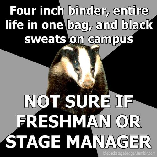 the stage manager ones make me smile