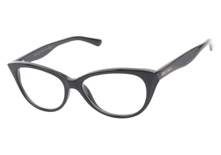 Jimmy Choo 60 807 Black eyeglasses. Get low prices, superior customer service, fast shipping and high quality, authentic products. from @ClearlyContacts