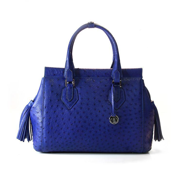 ostrich leather handbag from Via La moda