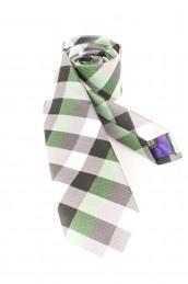 Krawatte grün mit Karomuster schmal