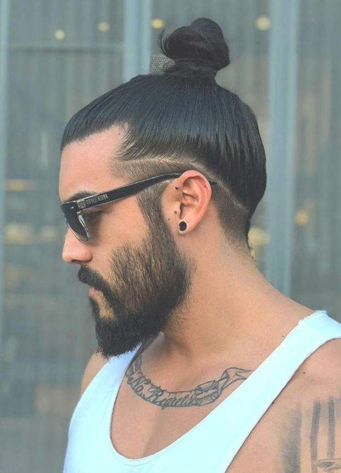 Man Bun With Low Undercut Long Hair Man Bun Hairstyles Mens Hairstyles Undercut