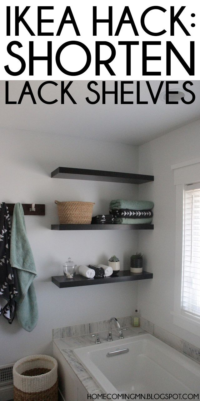Ikea Hack: Shortening Lack Shelves; Don't care about the hack, but like the shelving idea