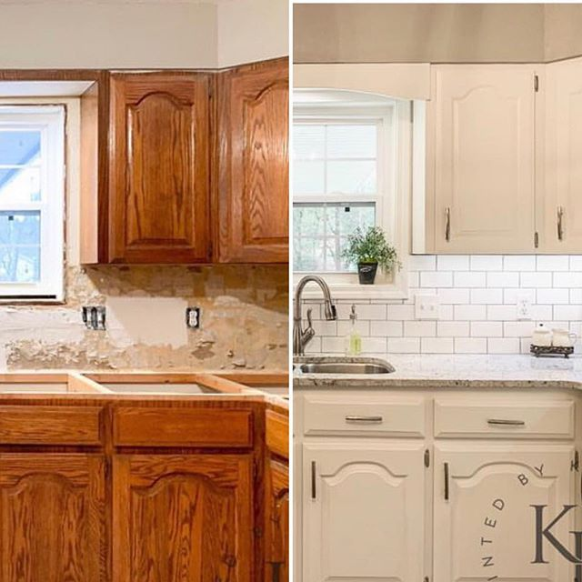 Have You Seen This Amazing Makeover From My Friend Kayla At Paintedbykaylapayne She S A Cabinet And Painting Kitchen Cabinets Kitchen Design Kitchen Remodel
