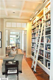 Great library wall. Architect/Designer: Hansen Architects