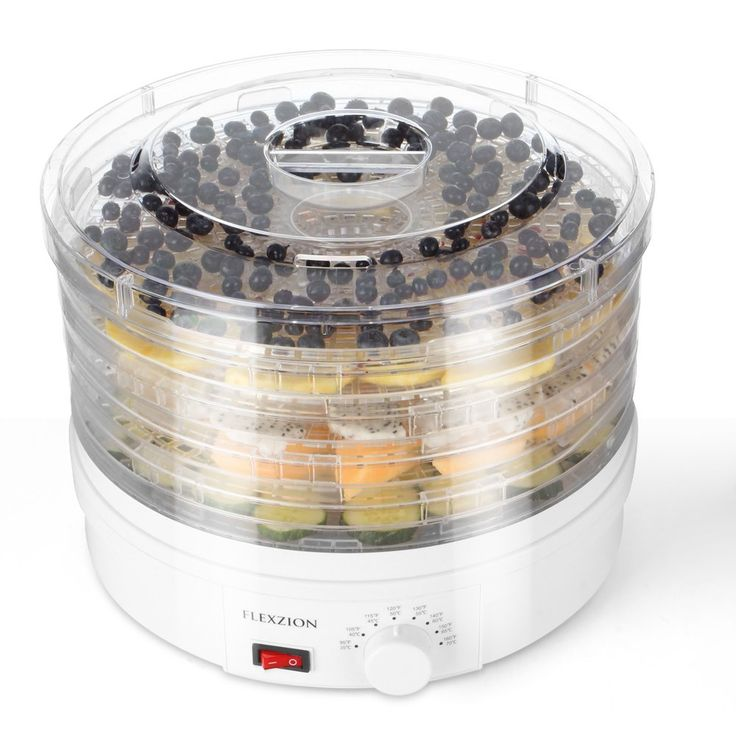 Flexzion Dehydrator for Food Fruit - Electric Food Saver Fruit Dehydrator Preserver Dry Fruit Dehydration Machine with 5 Stackable Tray * For more information, visit image link.