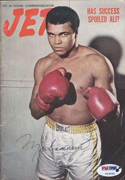 Muhammad Ali Autographed 5x7.5 Jet Magazine PSA/DNA #V09050