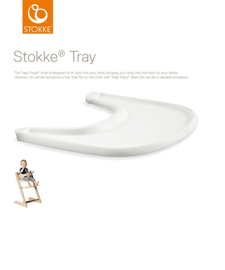 Stokke Tray tarjotin tekee Stokke Tripp Trapp tuolista entistäkin monipuolisemman.