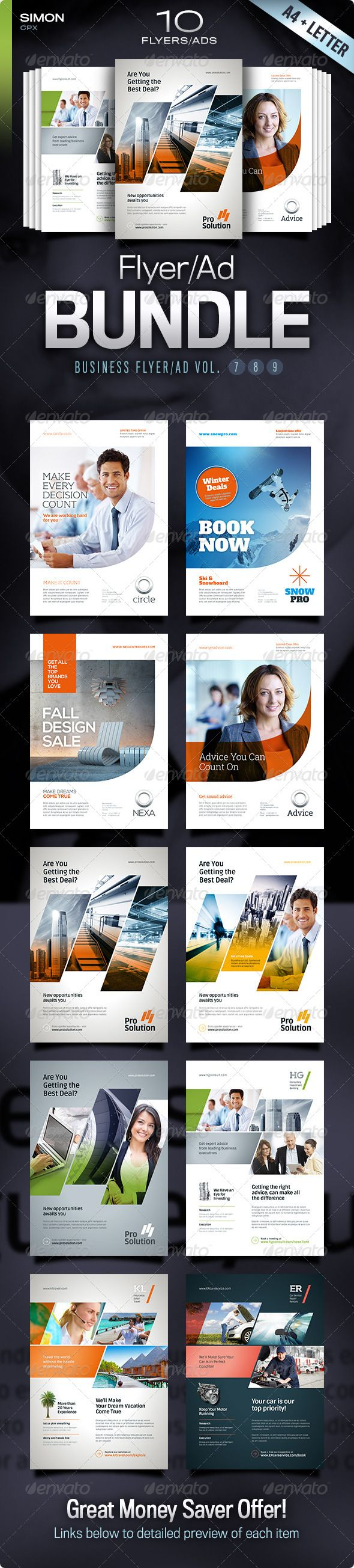 Business Flyer/Ad Bundle Vol. 7-8-9 - Corporate Flyers