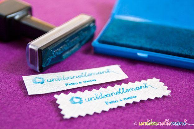 etichette personalizzate, etichette fai da te, etichette stampate, etichette stoffa, timbro etichette, etichette logo, stampare su stoffa,
