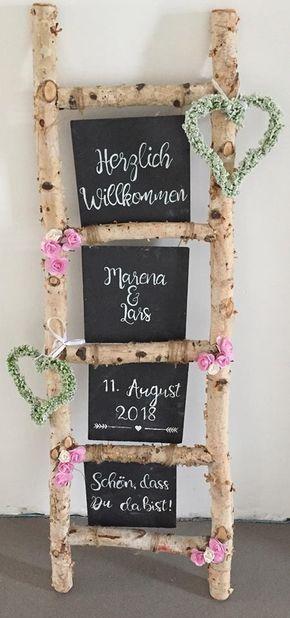 Deko Idee zur Hochzeit Willkommensschild – #Deko #Hochzeit #idee #Willkommensschild #Zur – Petro Swart